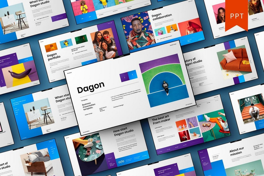 Dagon-Company-Profile-PowerPoint-Template 40+ Best Company Profile Templates (Word + PowerPoint) design tips