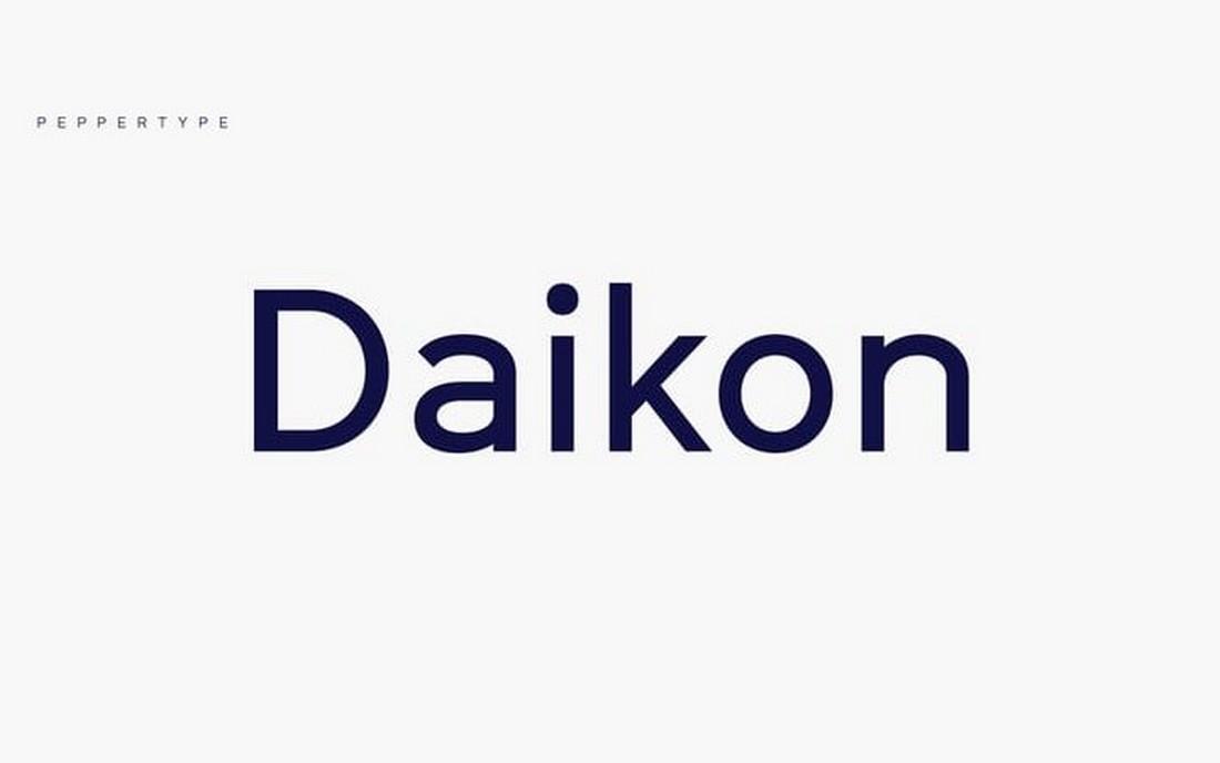 Daikon - Free Geometric Sans Serif Font