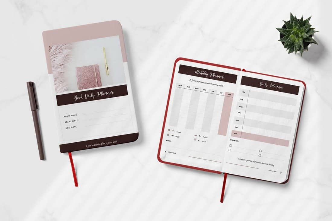 Daily Creator Planner Book Template