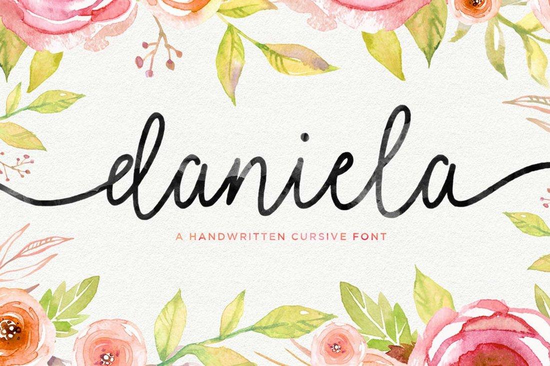 Daniela Script - Italic font