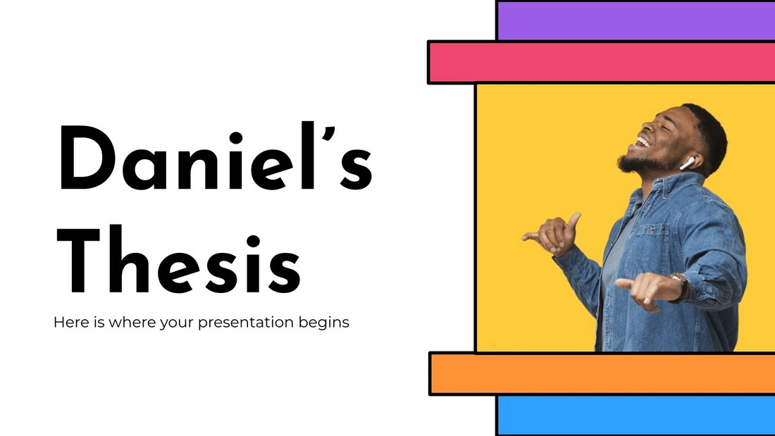 Daniel's Thesis - Free Education PowerPoint Template