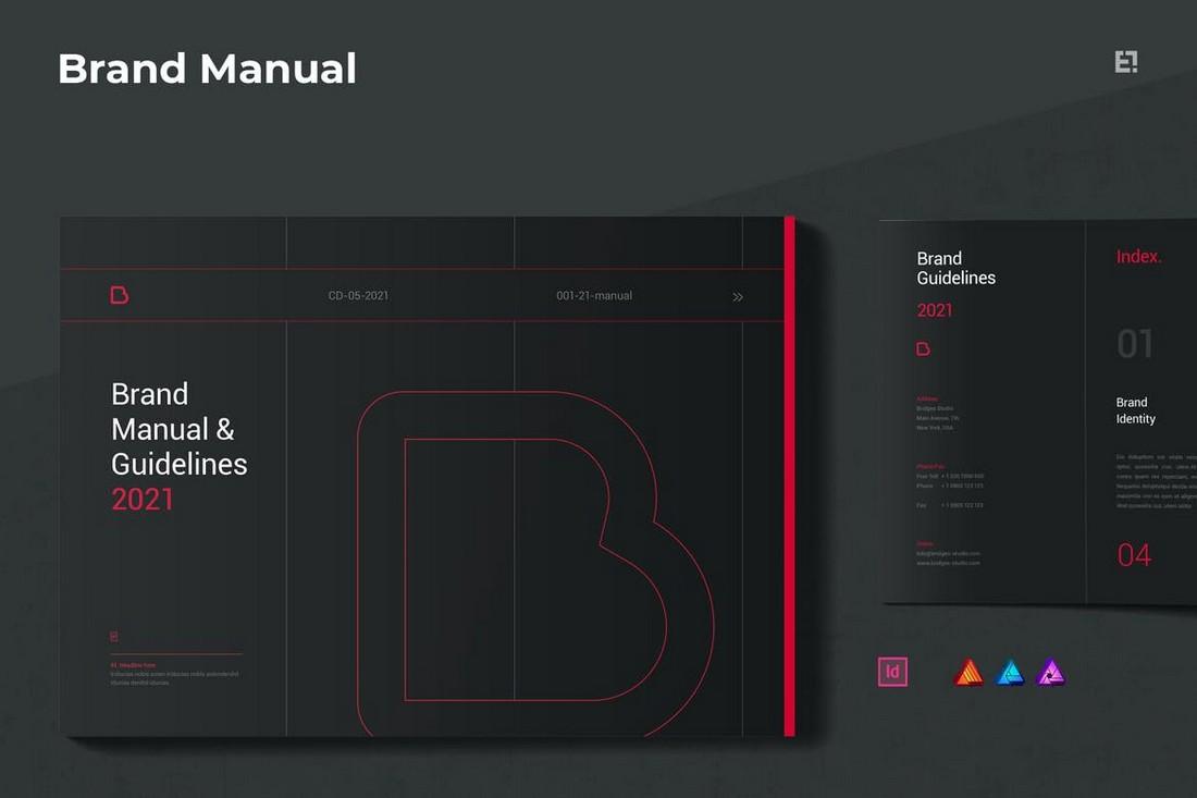 Dark Brand Manual & Guidelines Template