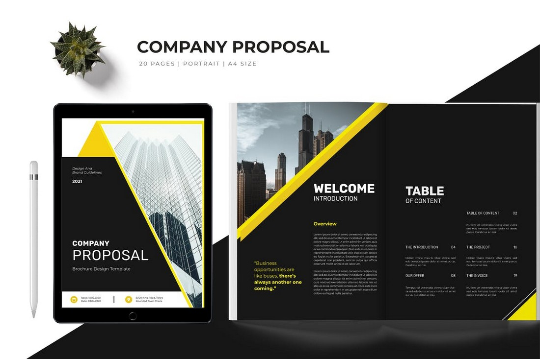 Dark Business Proposal Template for Word