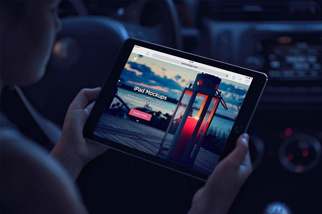 Dark Realistic iPad Mockup