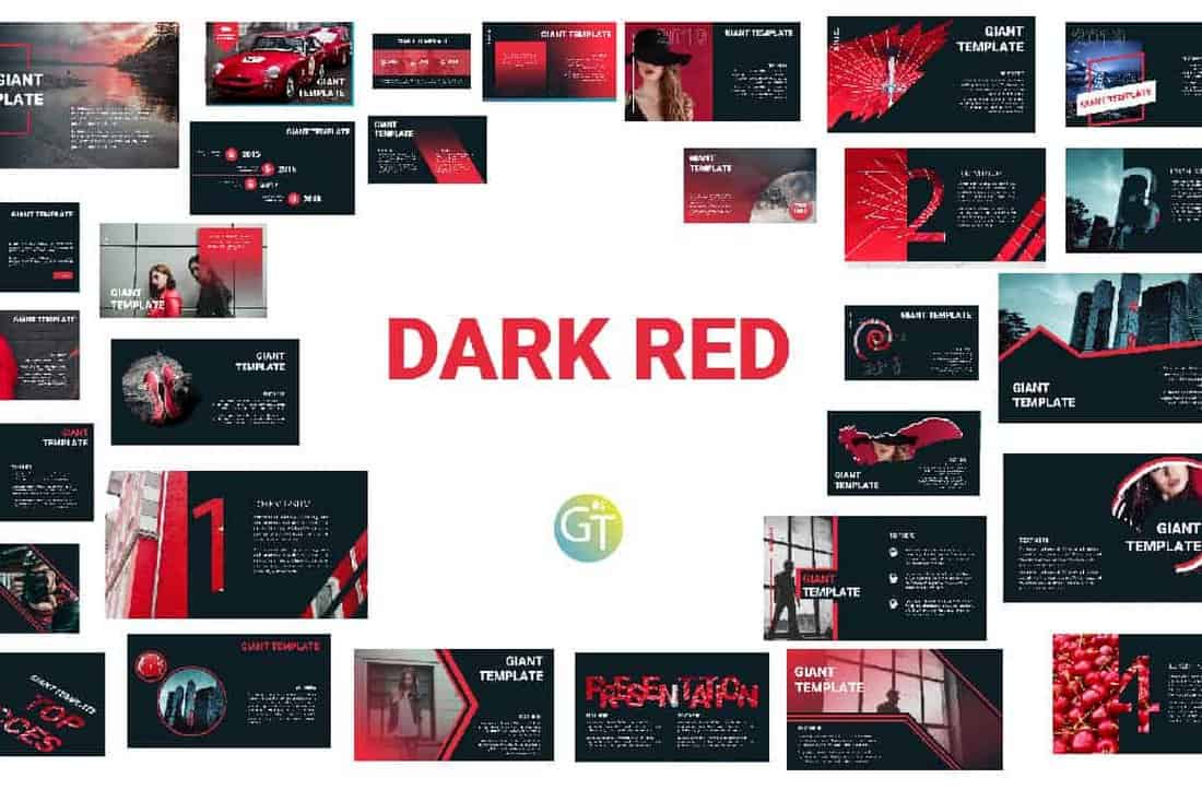 Dark Red – ELegant Black Free Powerpoint Template