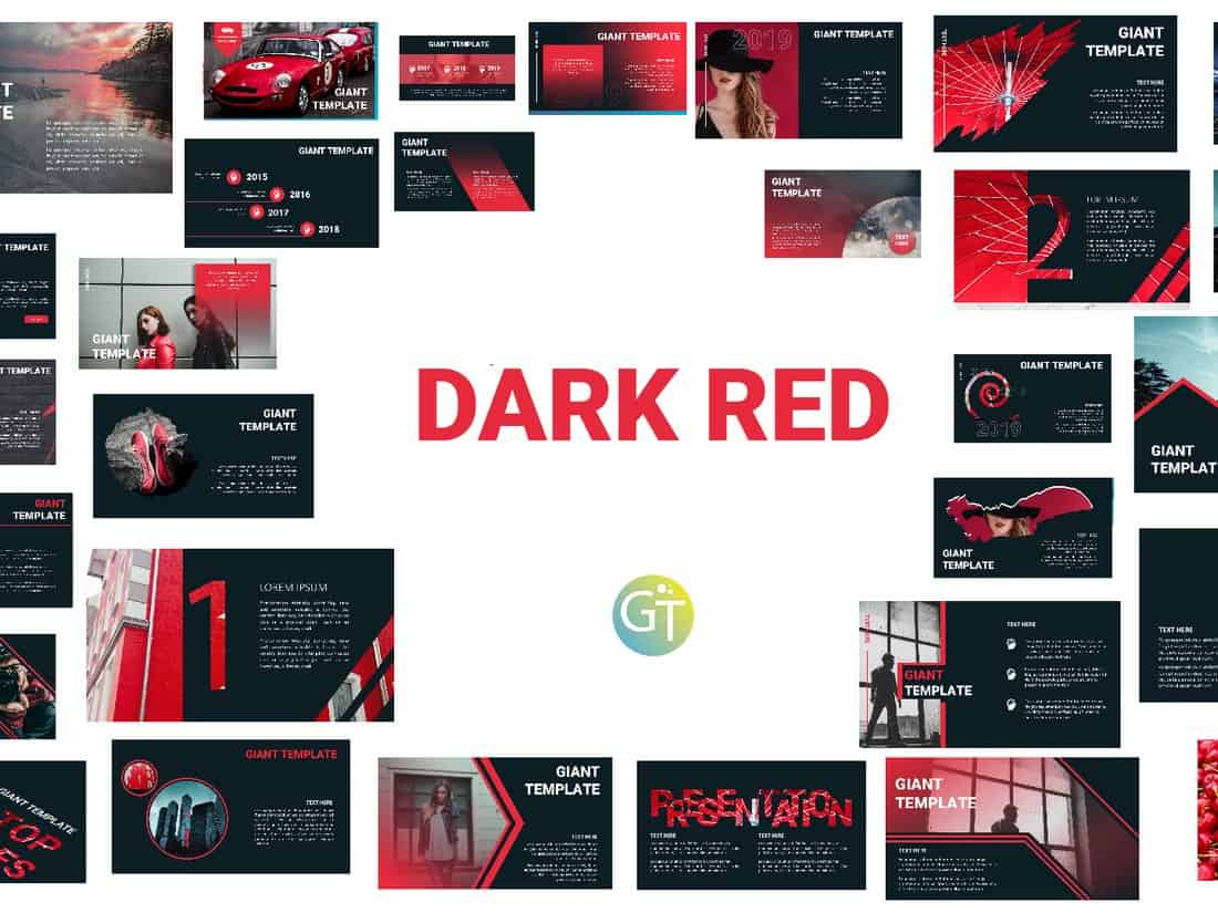 Dark-Red-Free-Powerpoint-Template 30+ Animated PowerPoint Templates (Free + Premium) design tips