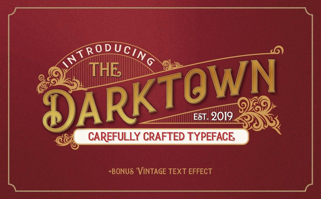 Darktown-free-vintage-font 60+ Best Free Fonts for Designers 2020 (Serif, Script & Sans Serif) design tips