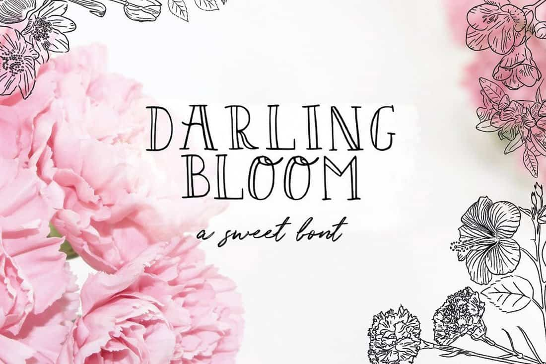 Darling Bloom - Feminine Outline Font
