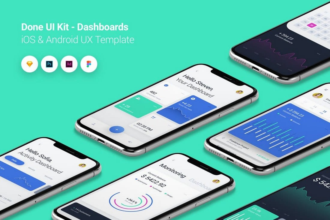 Dashboard - Done UI Kit iOS & Android Templates