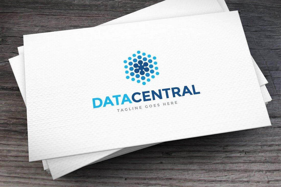 Data-Central-Logo-Template 50+ Best Minimal Logo Design Templates design tips