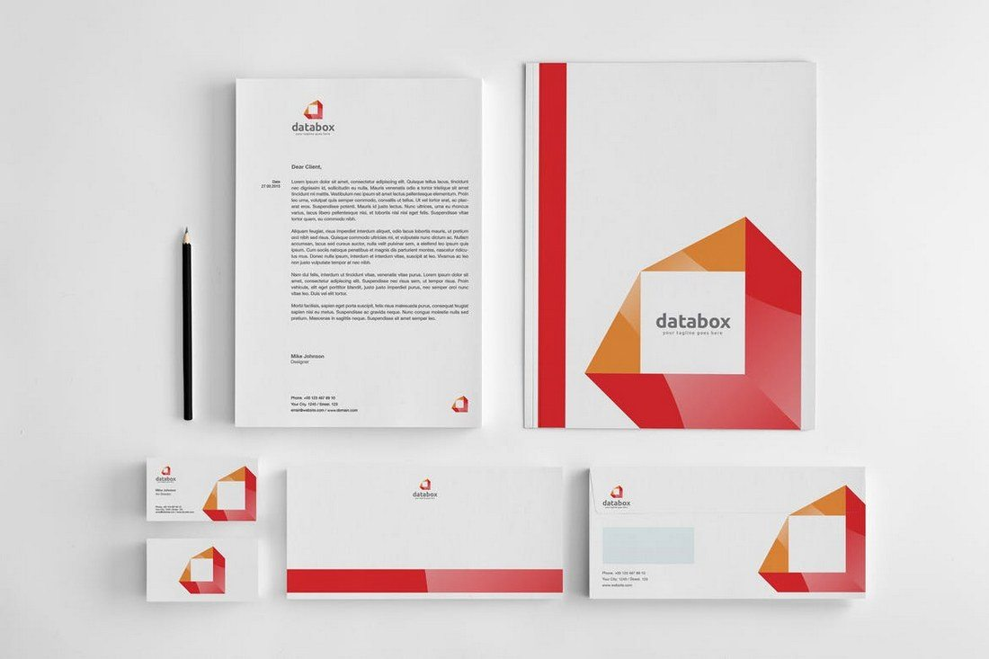 80 modern stationery templates design shack this is a pack of stationery templates designed for creating a stylish corporate identity it includes a letterhead business card a logo template accmission Image collections