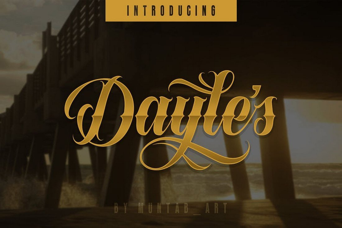 Dayles-Script-Tattoo-Font 30+ Best Tattoo Fonts & Lettering design tips  Inspiration|tattoo