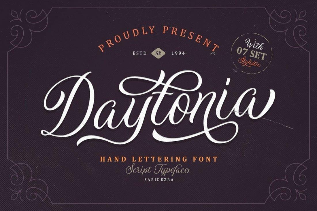 Daytonia-Hand-Lettering-Script 60+ Best Free Fonts for Designers 2020 (Serif, Script & Sans Serif) design tips