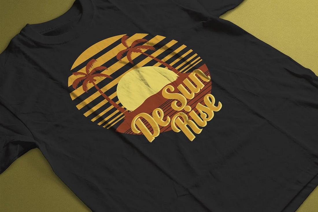 De Sun Rise - Summer T-Shirt Design