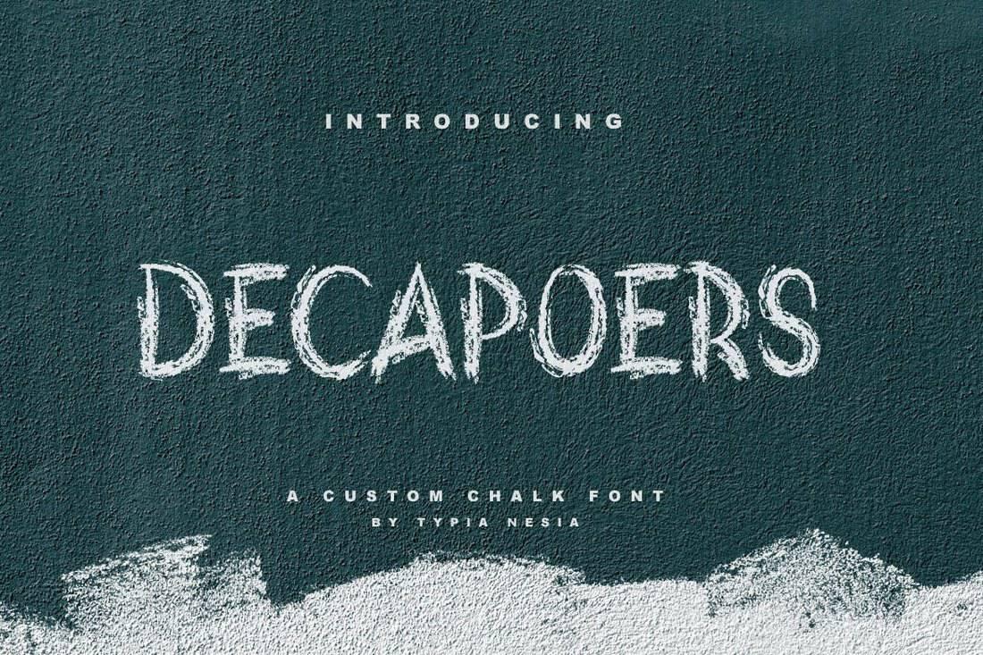 DeCapoers-Modern-Chalkboard-Font 15+ Best Chalkboard Fonts 2021 design tips