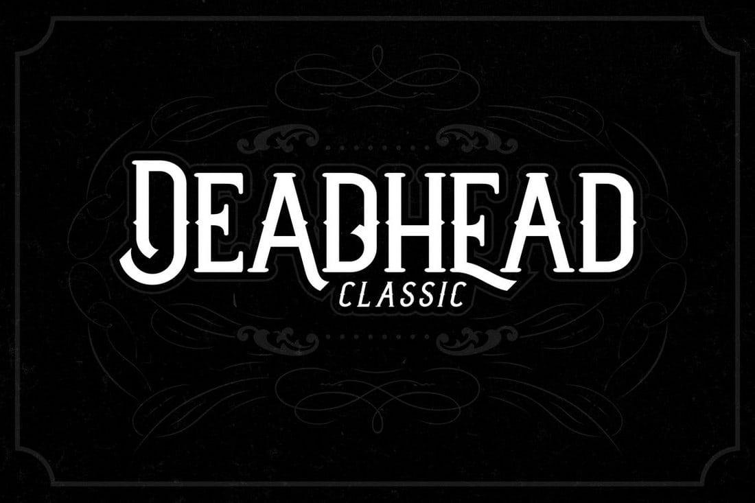 Deadhead-Classic 100+ Best Modern Serif Fonts design tips