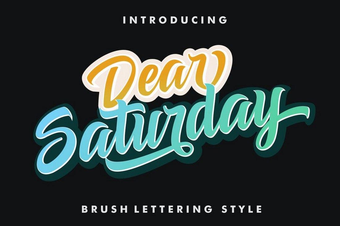 Dear Saturday - Retro Vintage Font