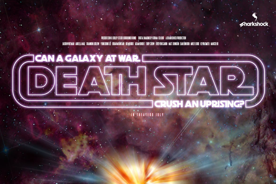 Death-Star 20+ Best Space Fonts design tips
