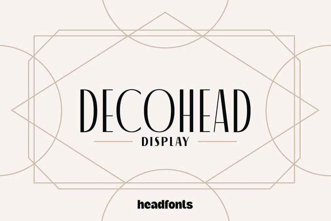 Decohead - Artdeco Font for T-Shirts