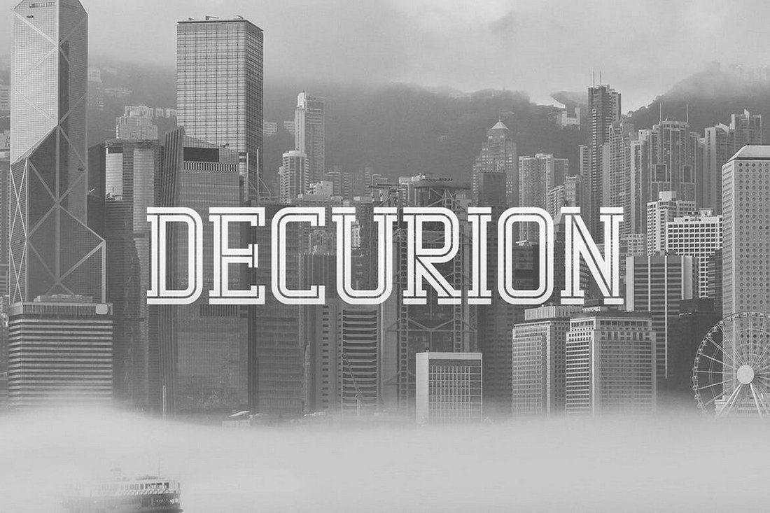 Decurion-Typeface 60+ Best Big, Poster Fonts of 2019 design tips