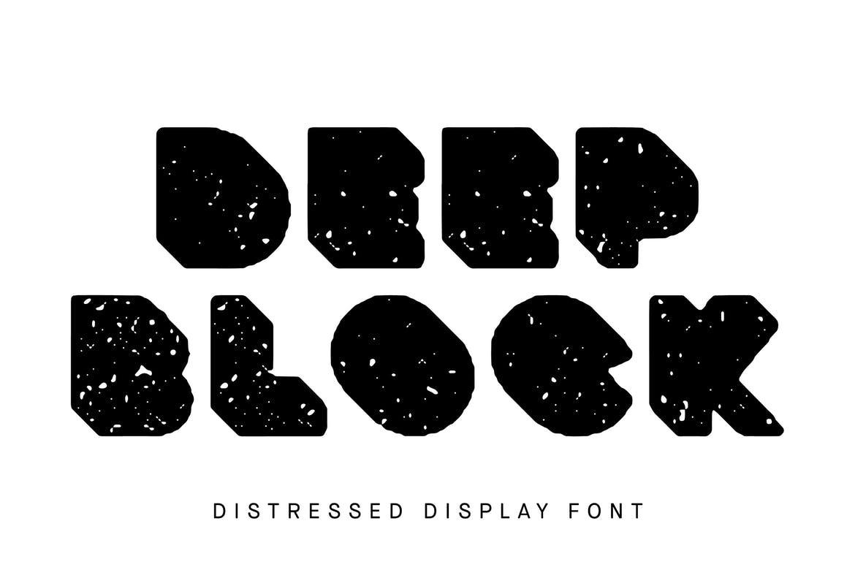 Deep Block - Distressed Display Font