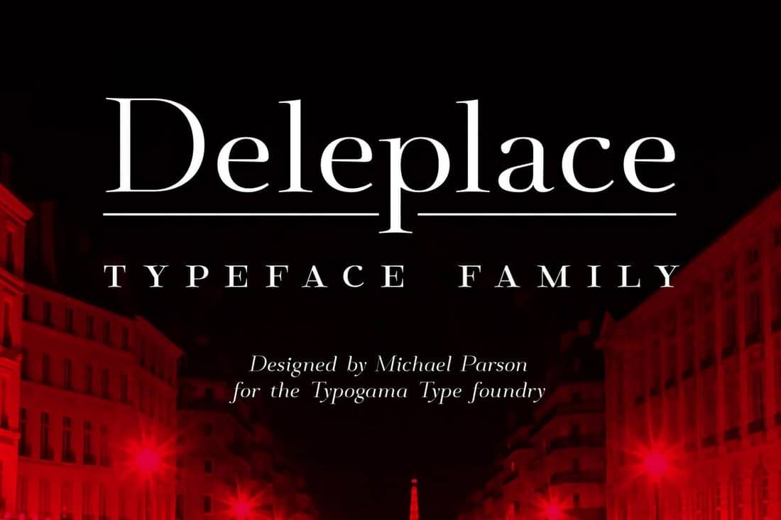 Deleplace - Modern Font Family