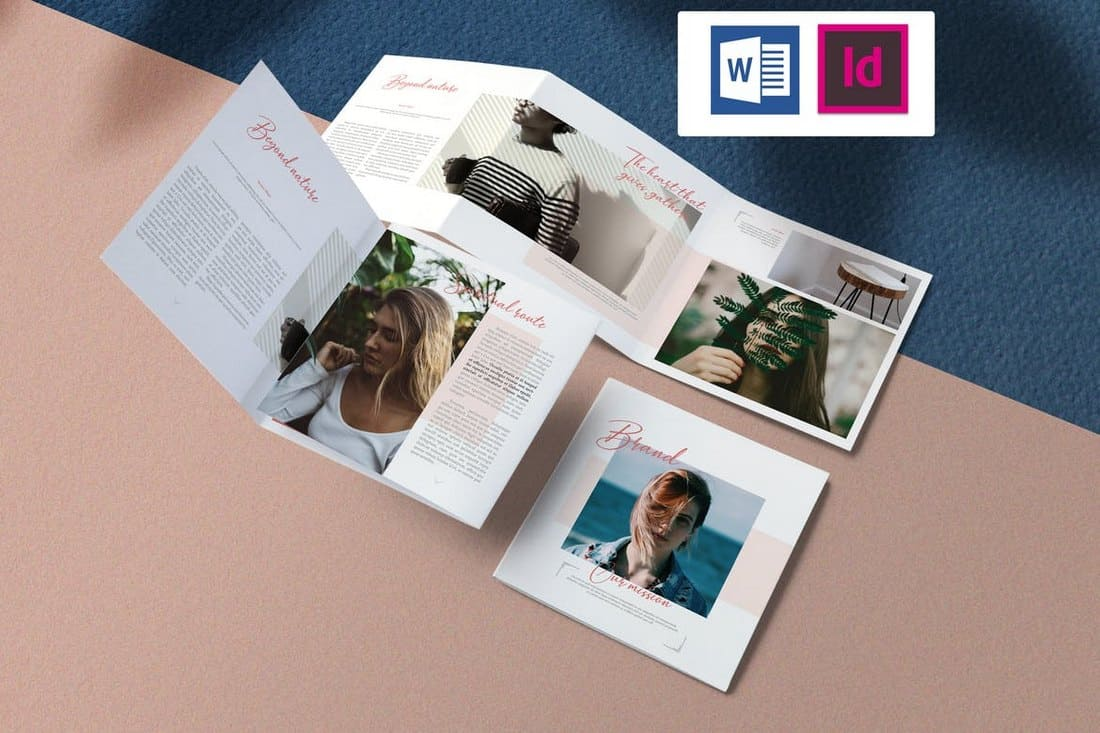 Delicate - Word & InDesign Brochure Template