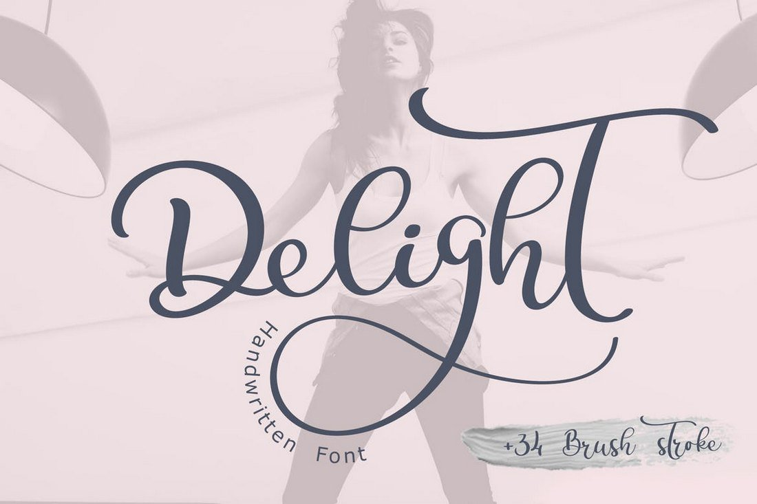 Delight-Calligraphy 30+ Best Cursive & Script Fonts design tips
