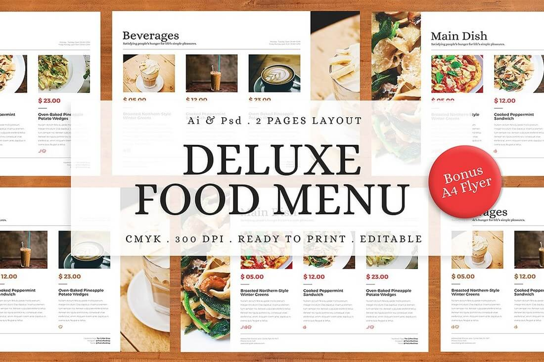 30 Food & Drink Menu Templates | Design Shack