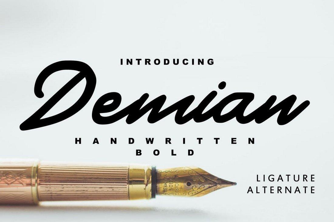 Demian - handwritten bold font