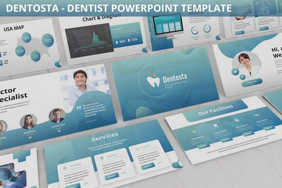 Dentosta - Dentist Powerpoint Template