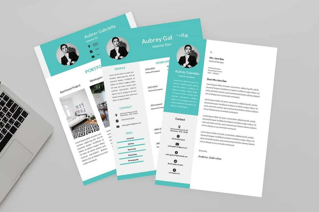 Designer-CV-Resume-Template 50+ Best CV & Resume Templates 2020 design tips