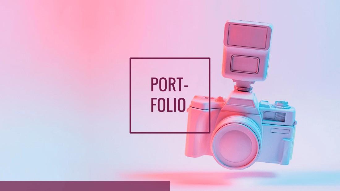 Designer Portfolio Free PowerPoint Template