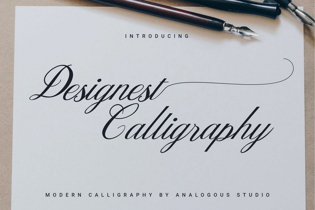 Designed calligraphy font for Procreate