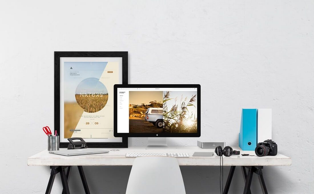 Desktop-Mockup-Creator 30+ Best Poster Mockup Templates 2021 design tips