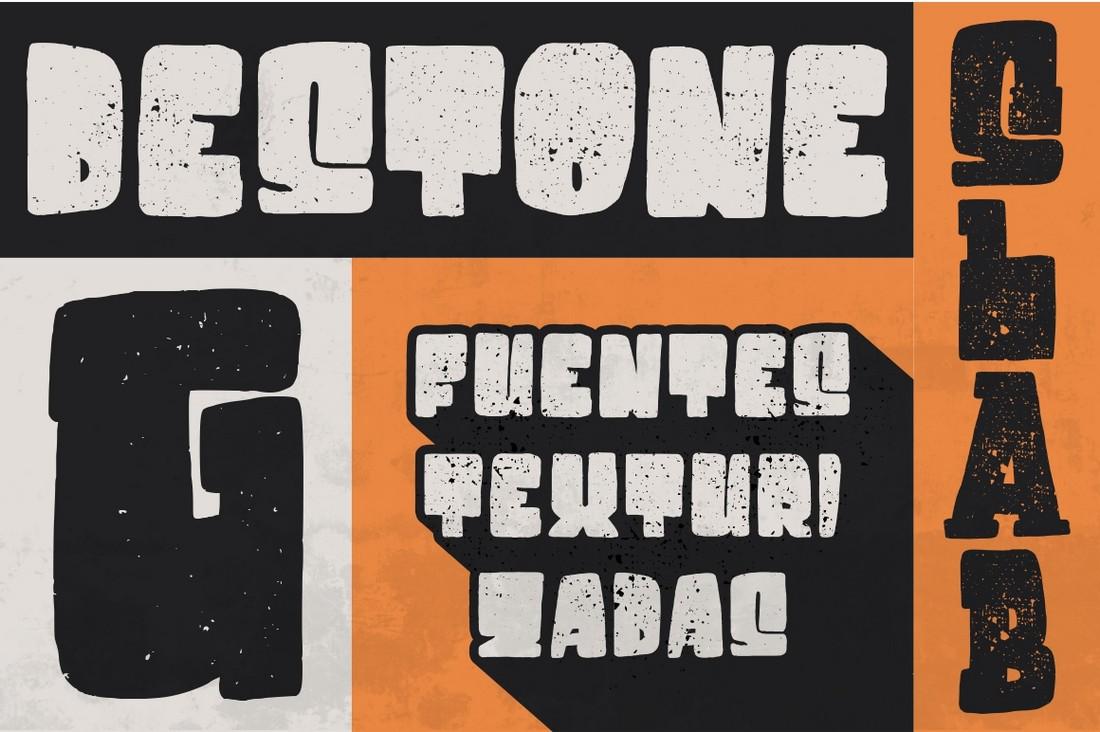 Destone - Free Grunge Bold Font