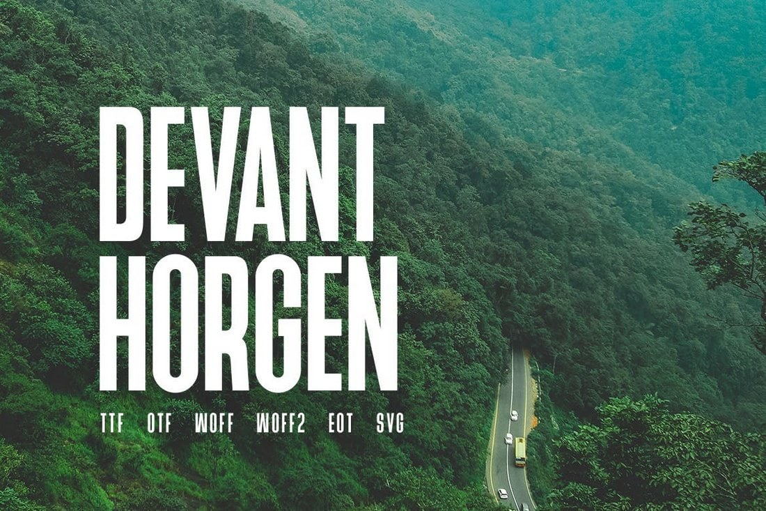 Devant-Horgen-Modern-Poster-Font 30+ Best Fonts for Posters design tips