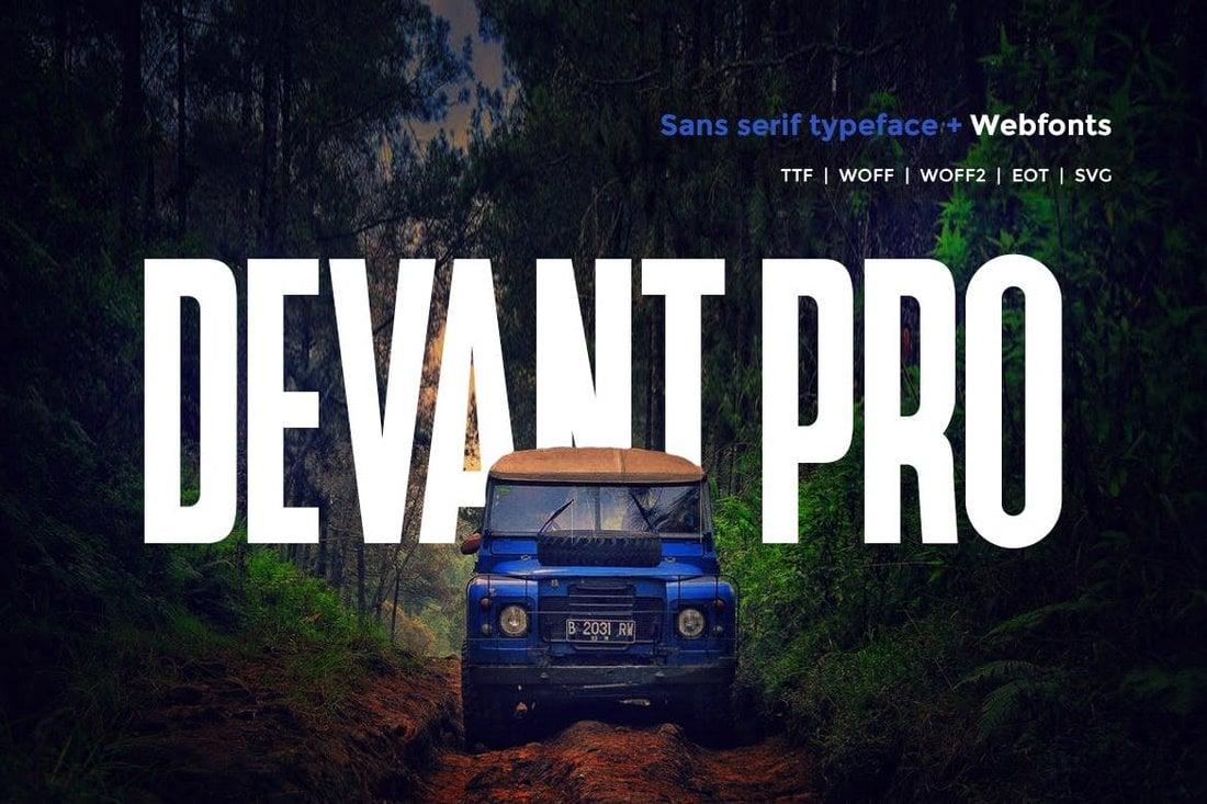 Devant Pro – Modern Narrow Font