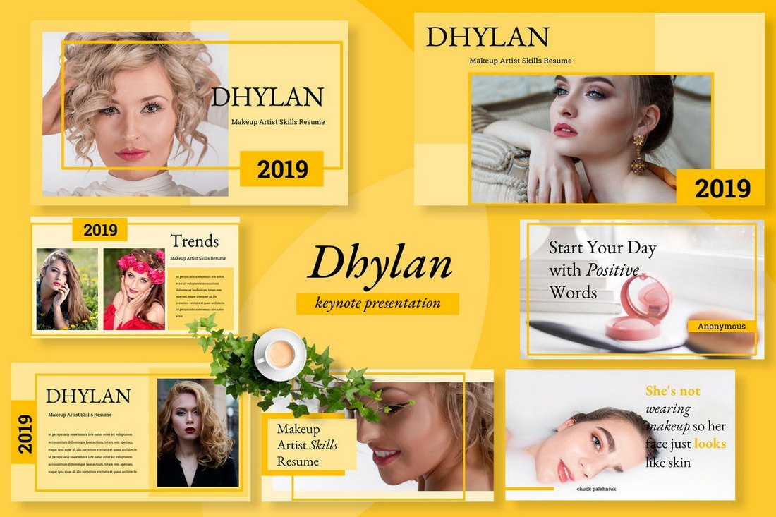 Dhylan-Beauty-Salon-Keynote 30+ Best Minimal & Creative Keynote Templates design tips