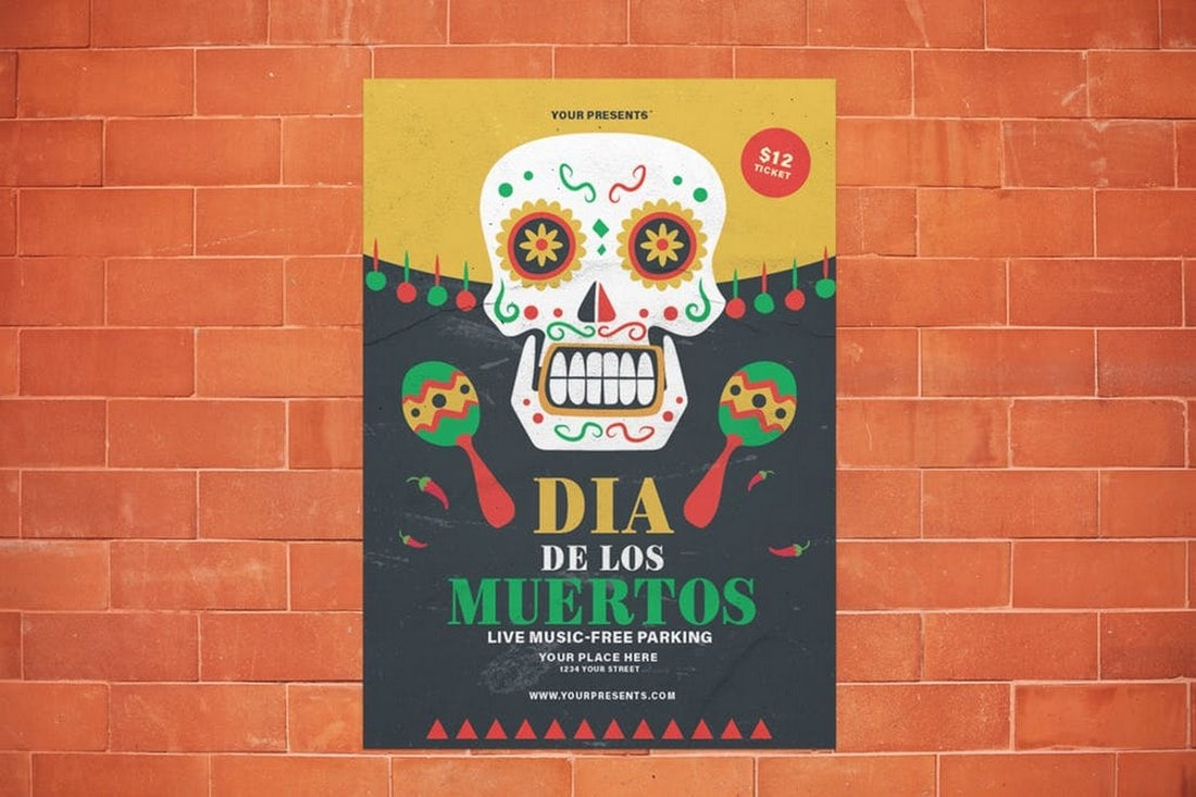 Dia-De-Los-Muertos-Flyer-Template 20+ Best Club Flyer Templates design tips  Inspiration