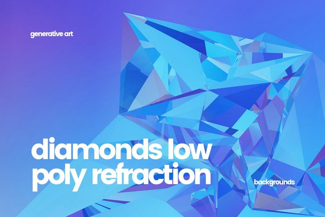 Diamonds-Low-Poly-Refraction-Backgrounds 20+ Beautiful Geometric & Polygon Background Textures design tips