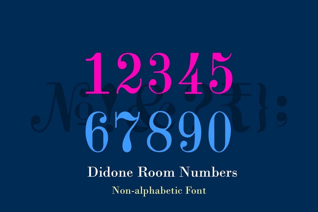 Didone-Room-Numbers-Display-Font-Family 40+ Best Number Fonts for Displaying Numbers design tips