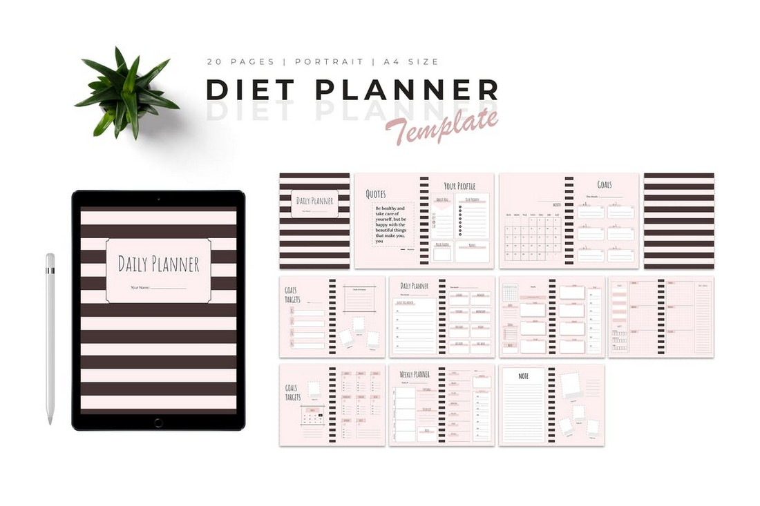 Diet & Meal Planner Templates
