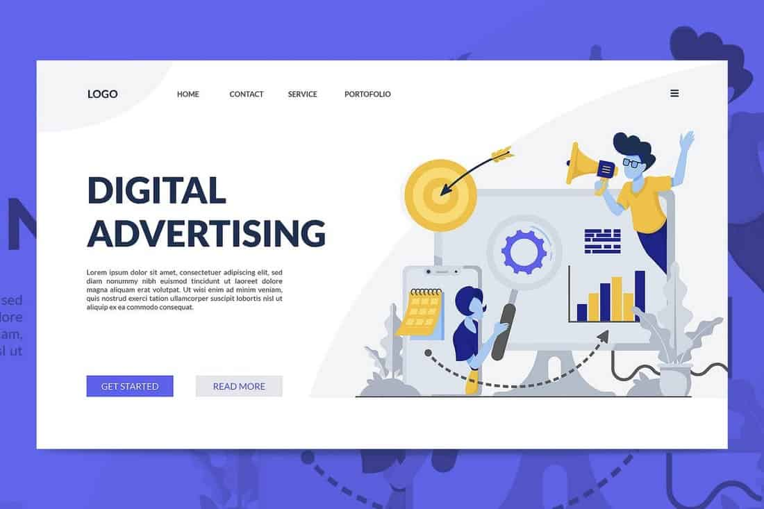 Digital Advertising Landing Page Template