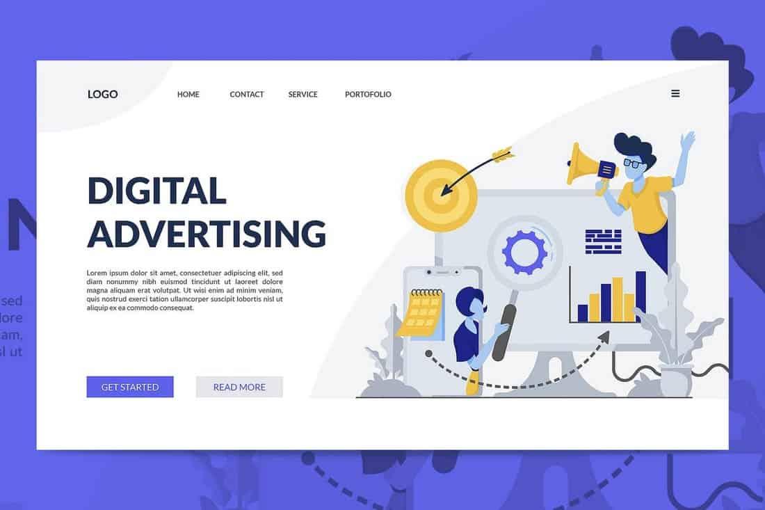 Digital Advertising Landing Page Template