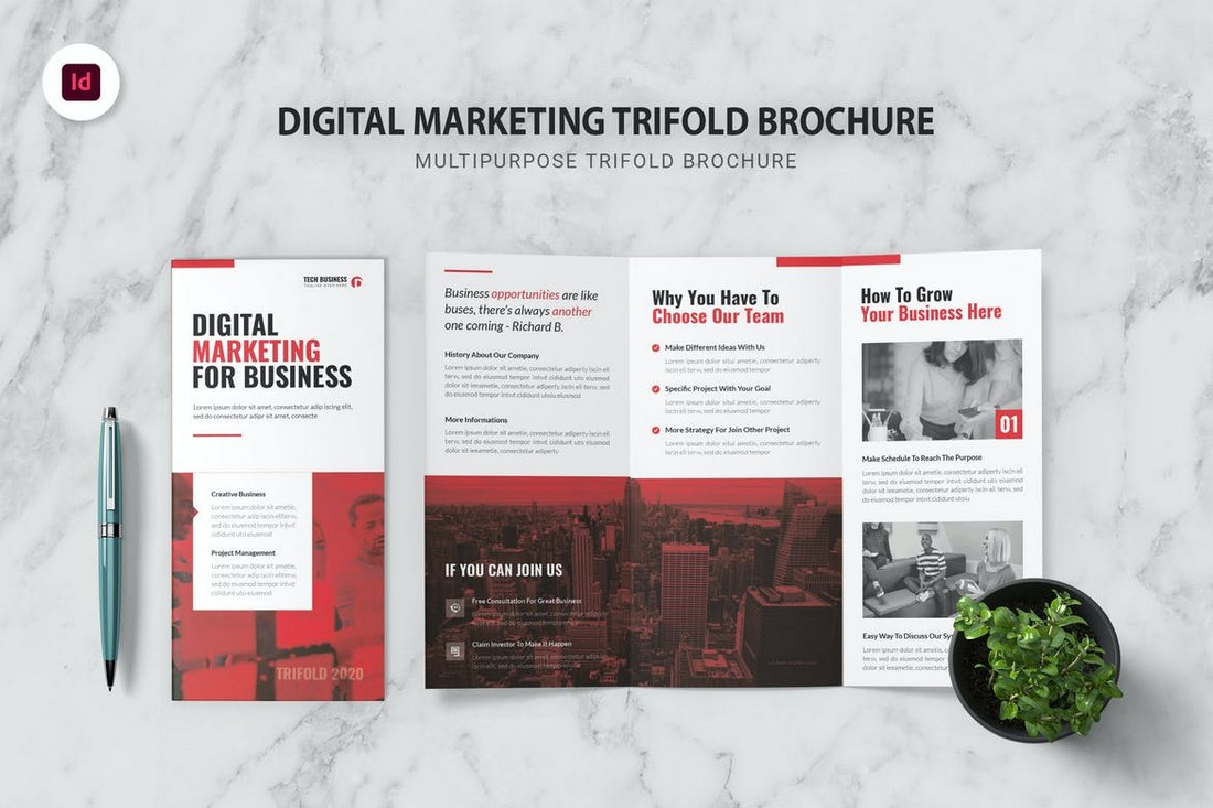 Digital Marketing - InDesign Trifold Brochure