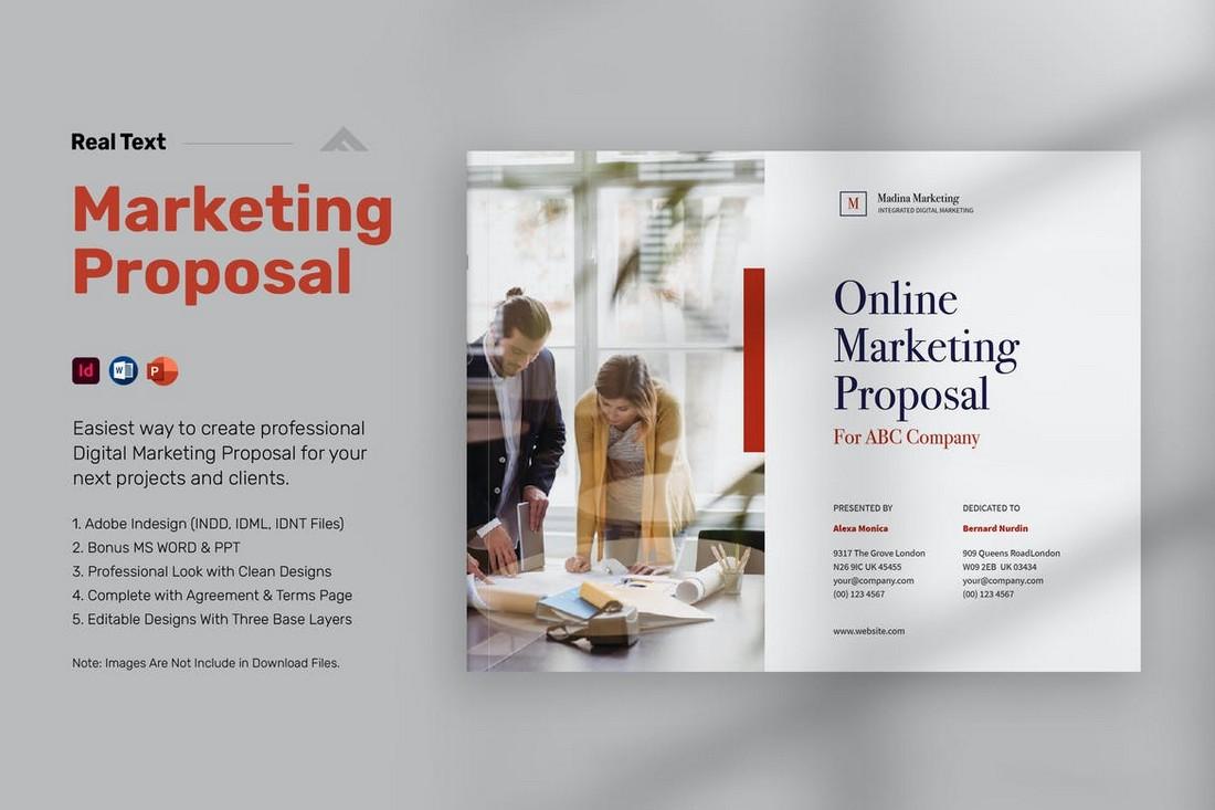 Digital Marketing Proposal Word Template