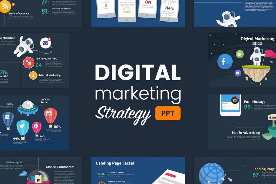 Digital-Marketing-Strategy-Powerpoint-Template 30+ Animated PowerPoint Templates (Free + Premium) design tips