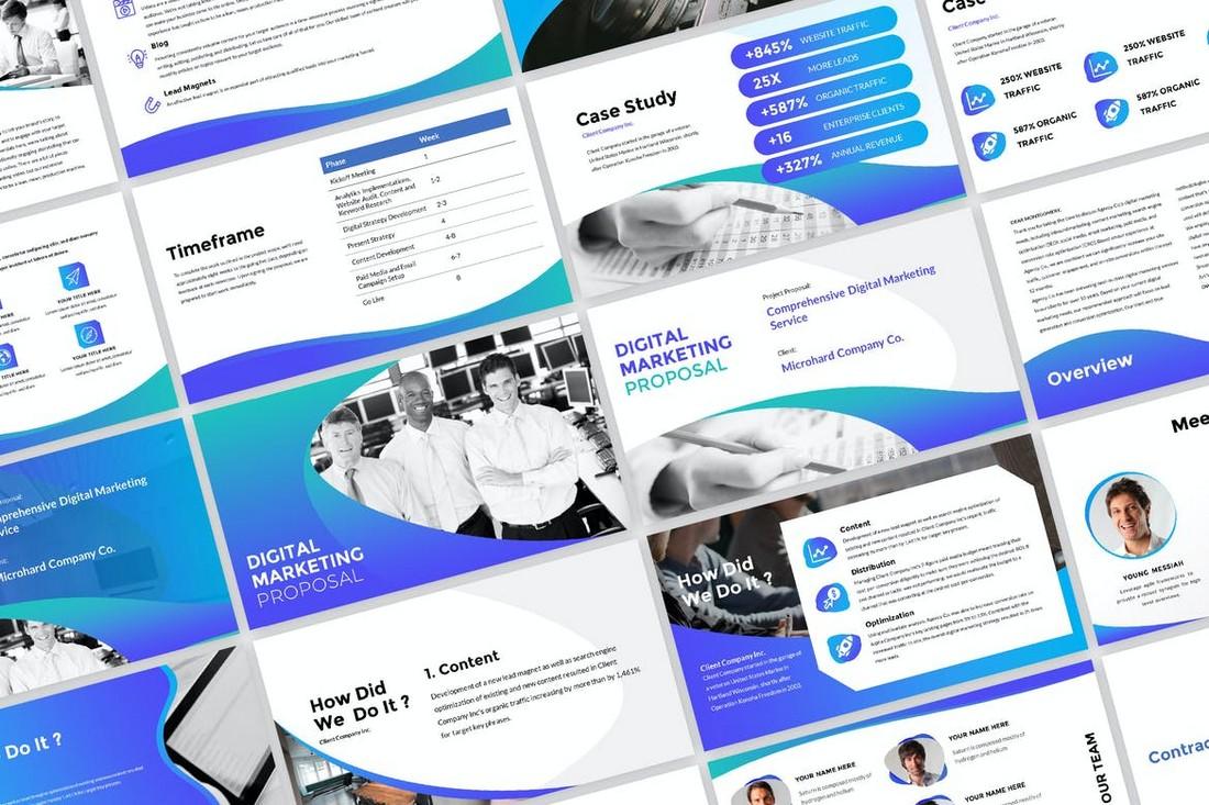 Digital Marketing Strategy Presentation Template