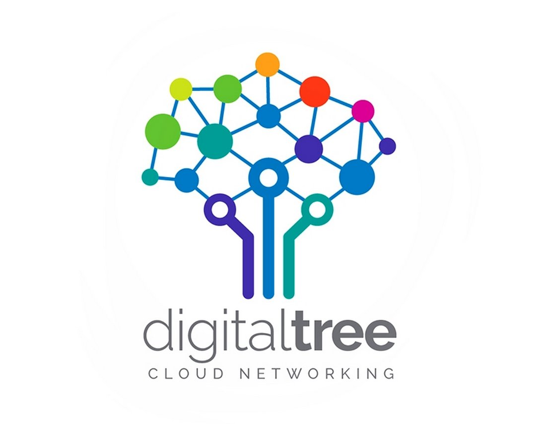 Digital Tree - Free Technology Logo Template